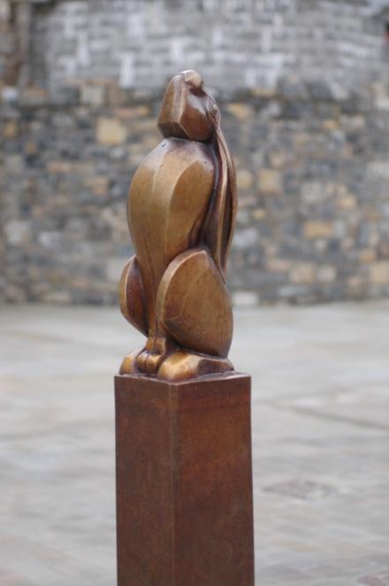 ANIMALS TO MARKET ,   BRIDGEND  6 cast bronze gateway markers