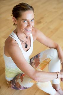 "Lead Teacher and Program Creator, Laurie Searle (aka ""Lady Yoga"")"