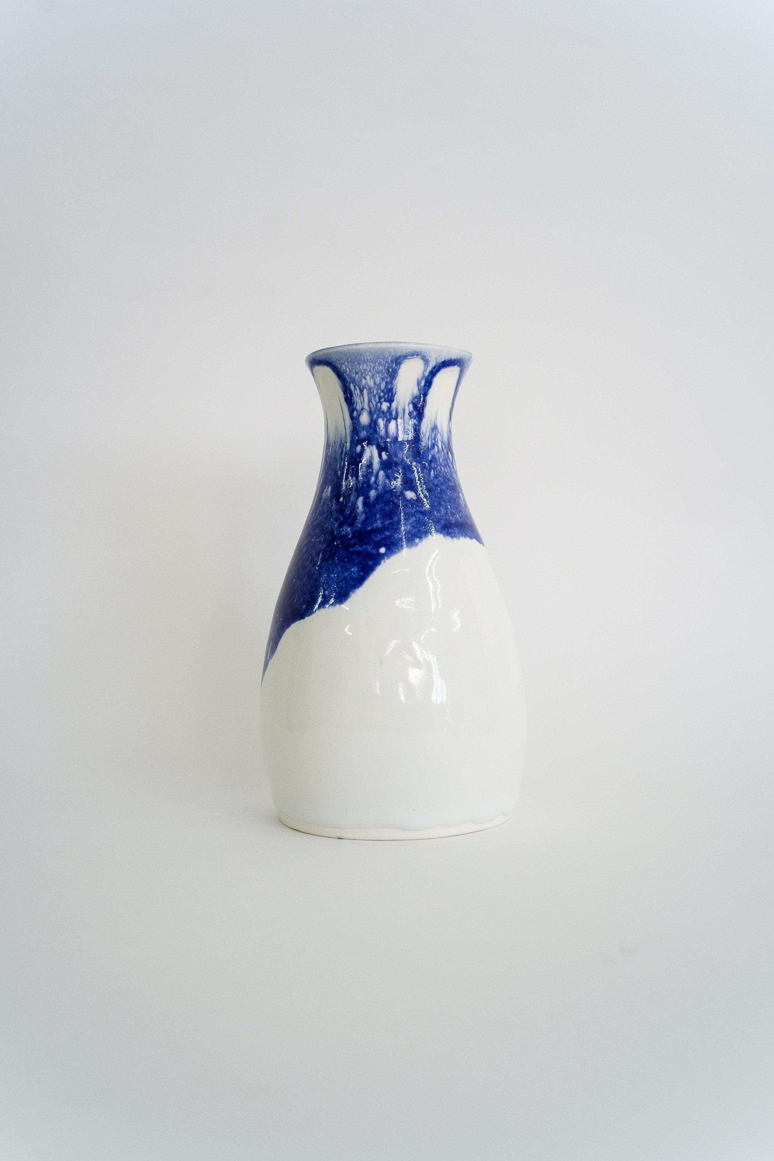 藍白釉白瓷花瓶 Blue & White Glaze Vase 2016