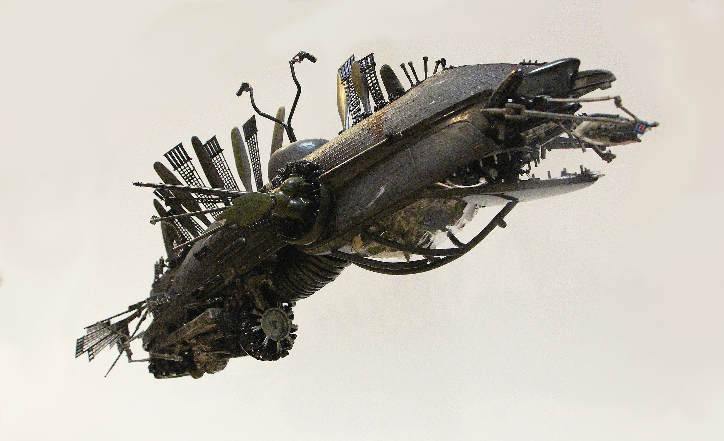 Full Machine Made of Plane, Ship and Car Components