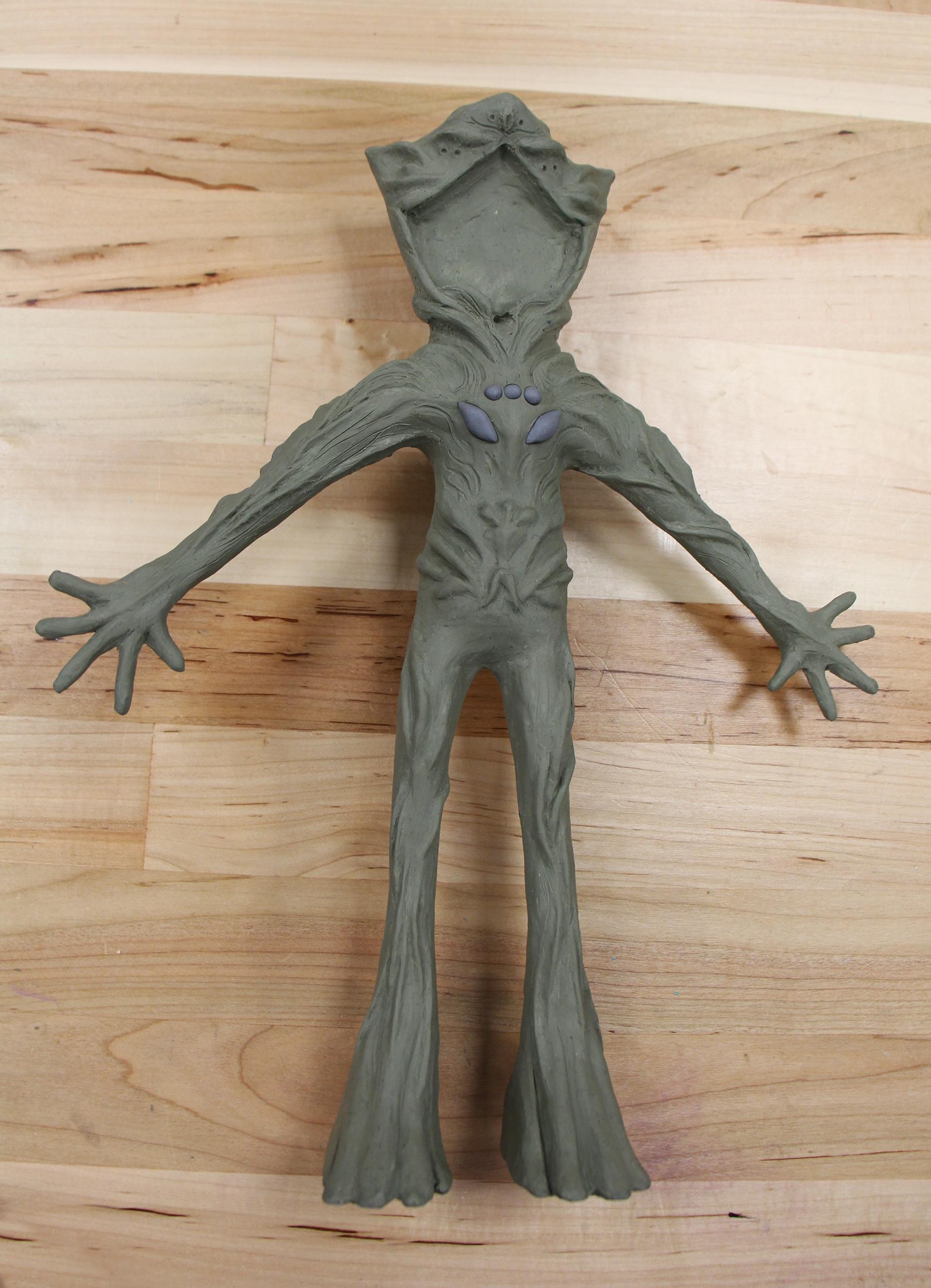 Front View of Puppet Sculpt