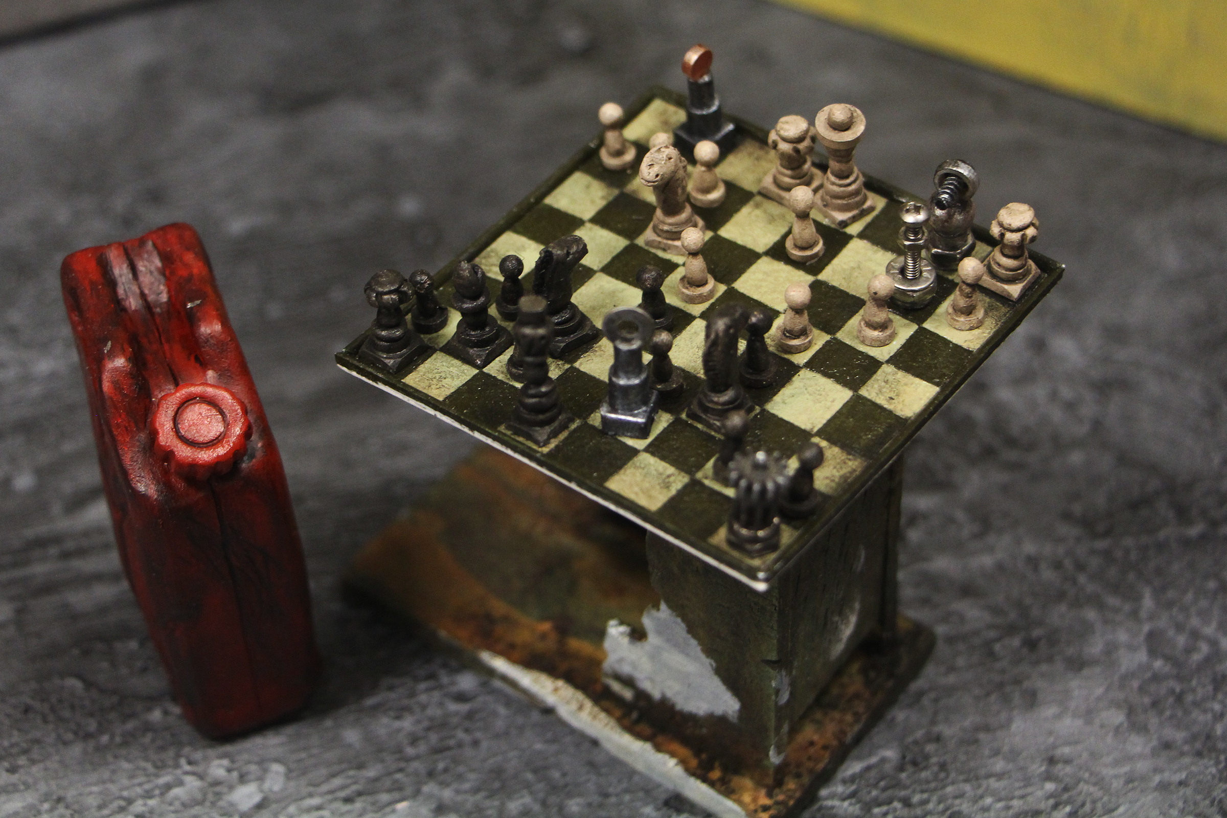 Jerry Can and Chessboard Set Dressing