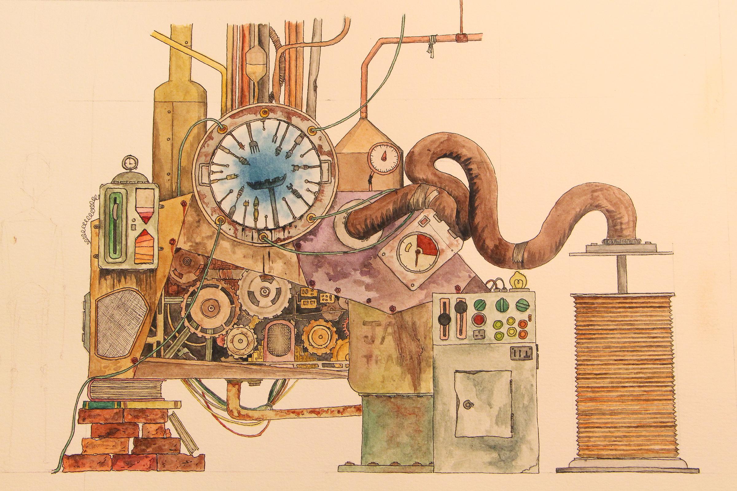 Machine Final Design Sketch