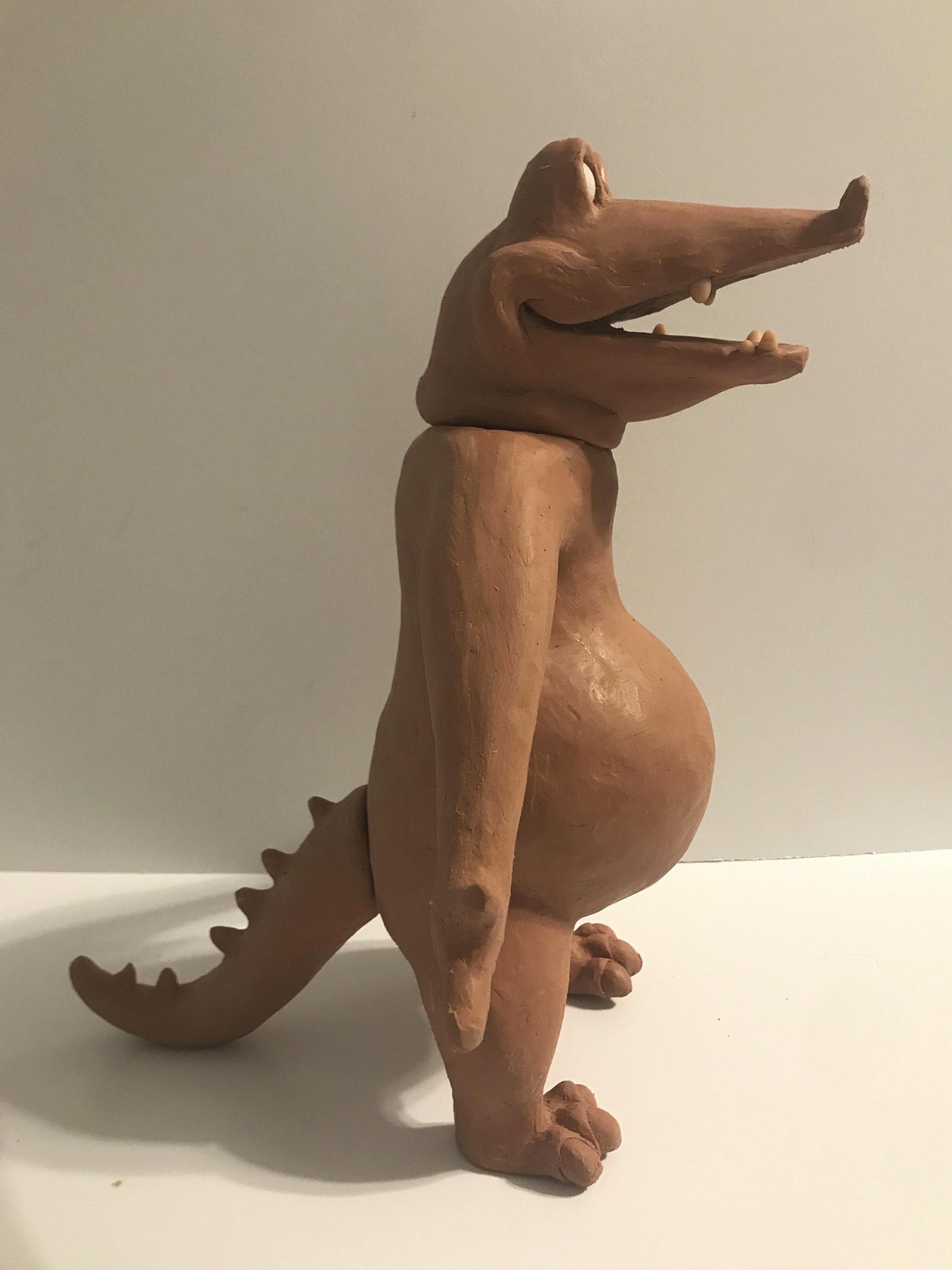 Profile View of Puppet with Detachable Head and Tail