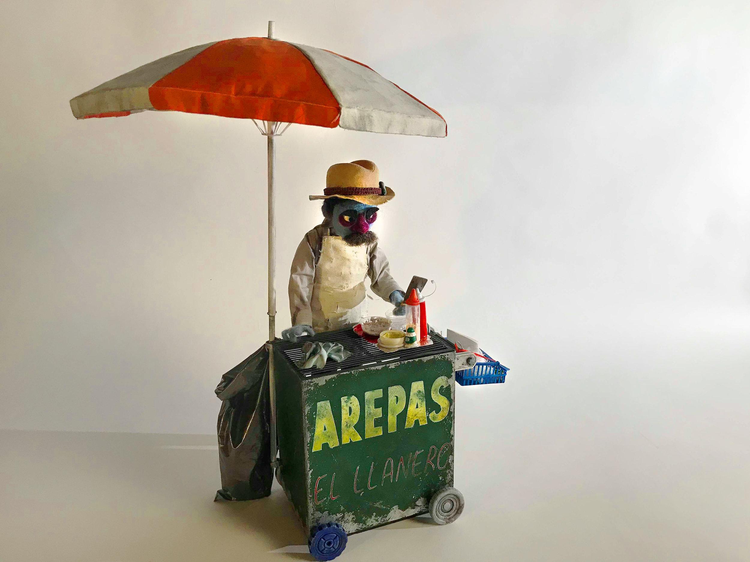 Arepas Cart Prop with Animatable Umbrella