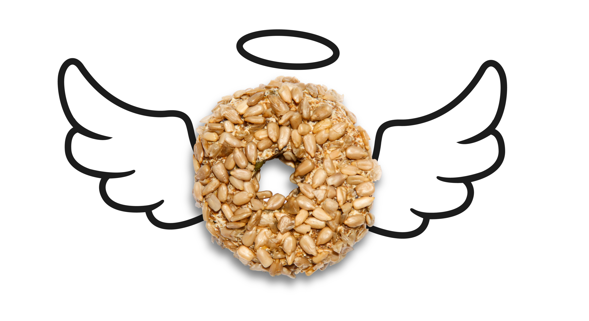 Flying organic raw sprouted bagel