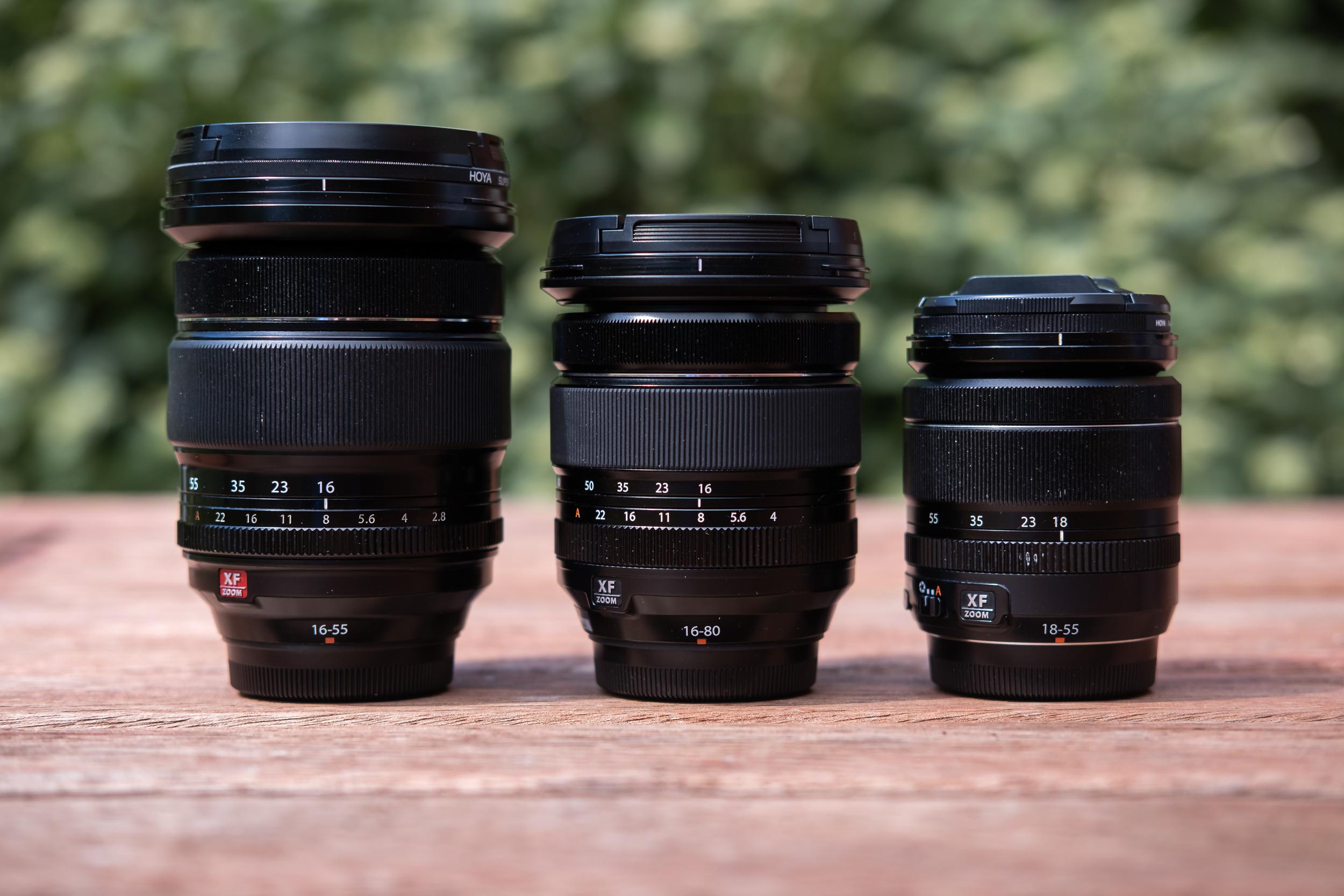 Fujinon XF16-55, XF16-80, XF18-55