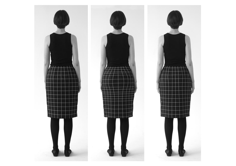 McLeod, Natalie.  Does my bum look big in this?  [engineered print design] 2014.