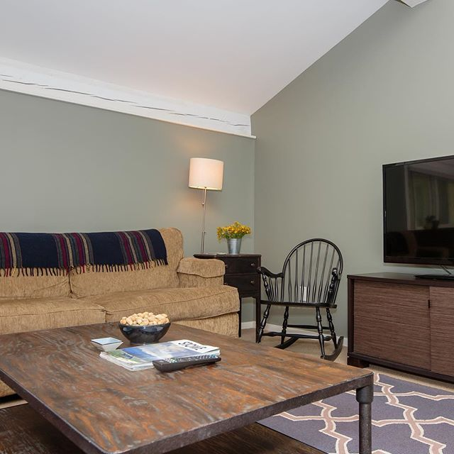 Our cozy living room at the Tollhouse Townhouses
