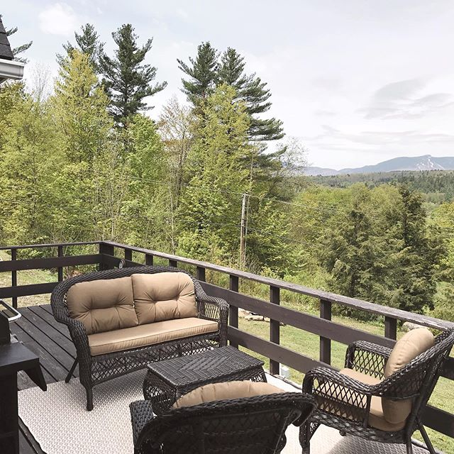 Memorial weekend deck goals. Relax and enjoy the view. #mountainviews #mansfieldview #stayinstowe #stowevermont