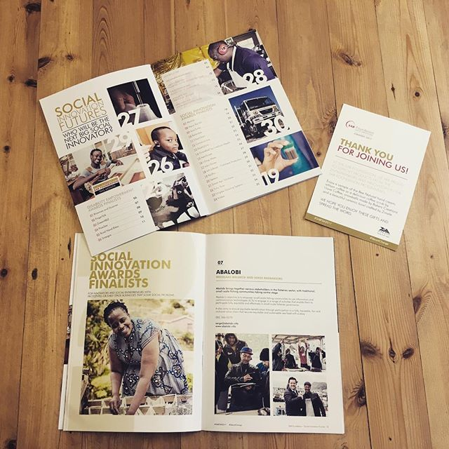 A brochure we did recently with @thefridaystreetclub for the #SABFoundation awards. A great cause that honours local entrepreneurs and social innovators. #southafrica #socialupliftment #innovation #ideas4change #sabfsia #bdstudio_ct