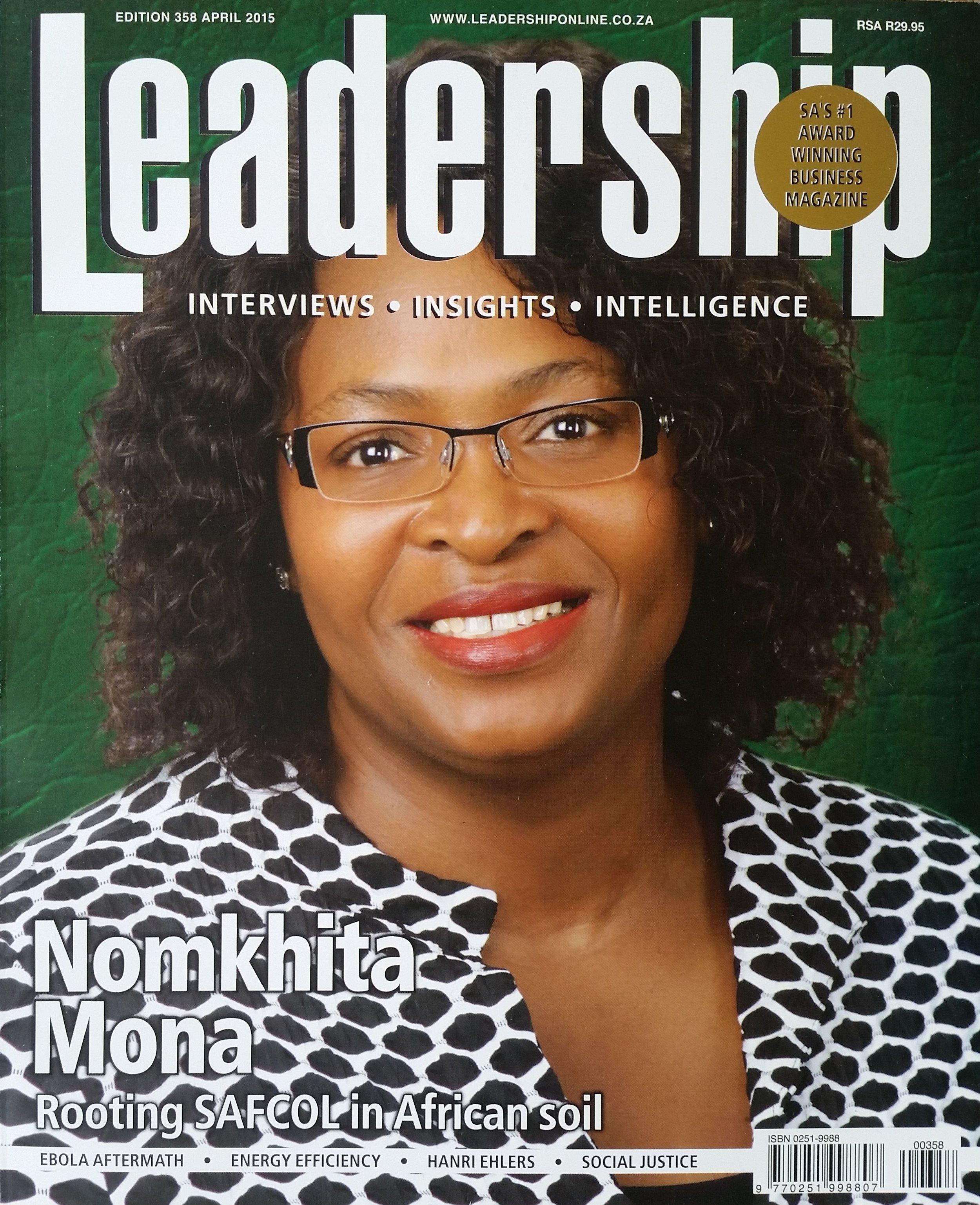 Leadership magazine LIO global nadia read thaele