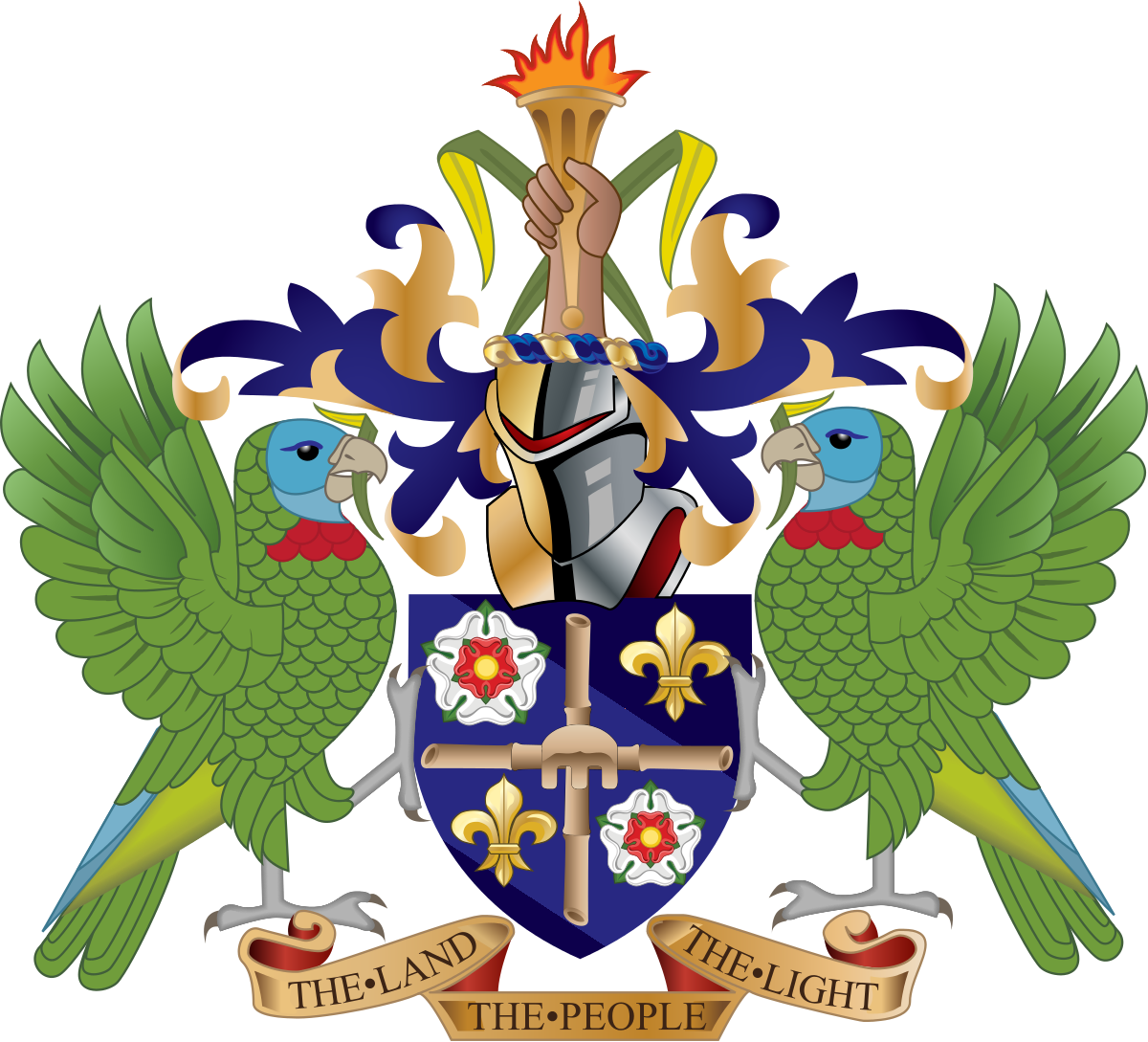 St Lucia Coat of Arms
