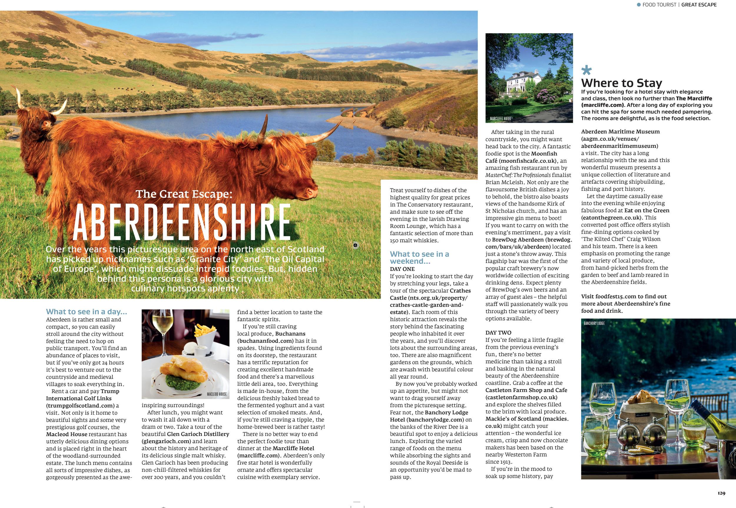 Aberdeen travel feature in Great British Food