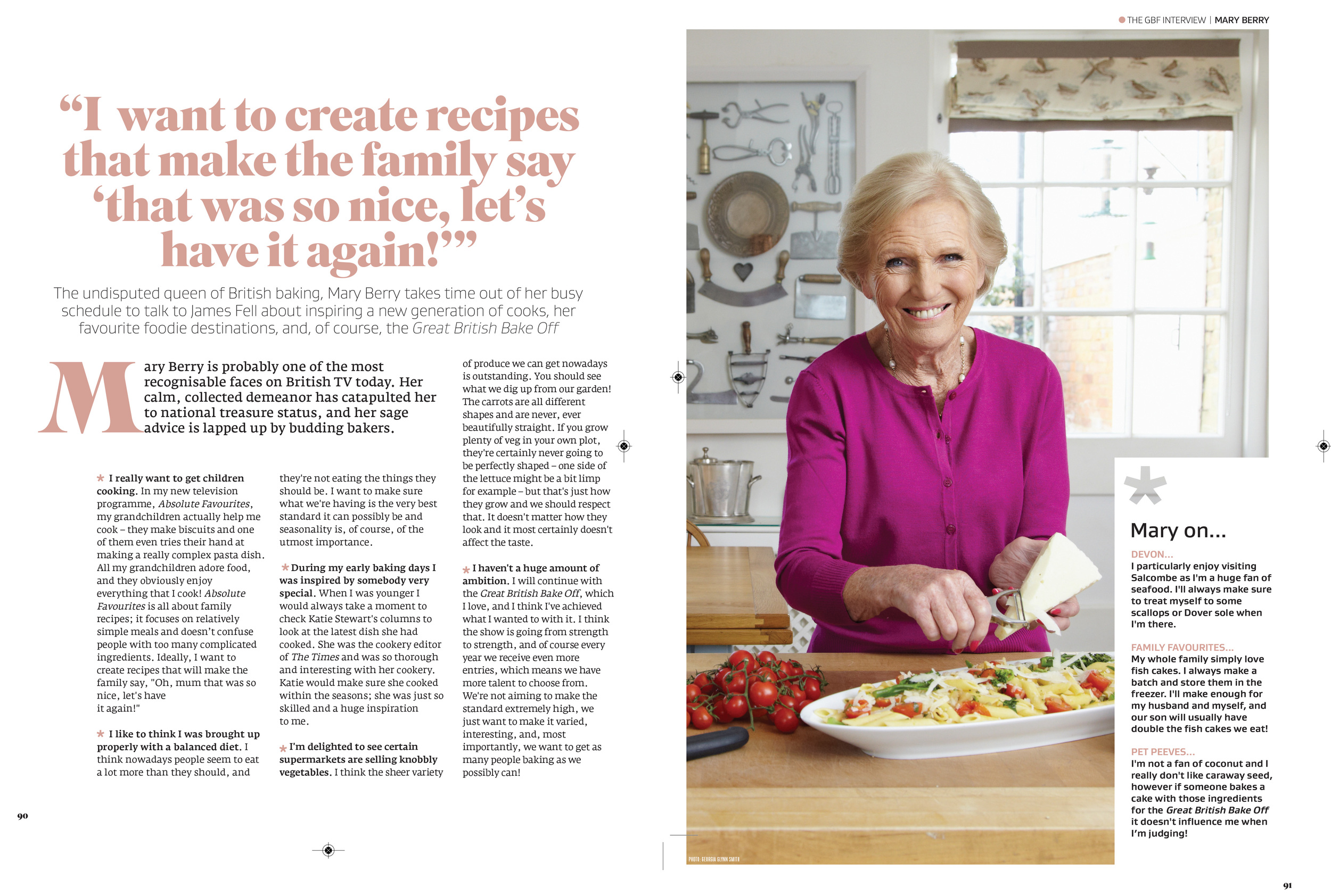 Interview with Mary Berry in Great British Food