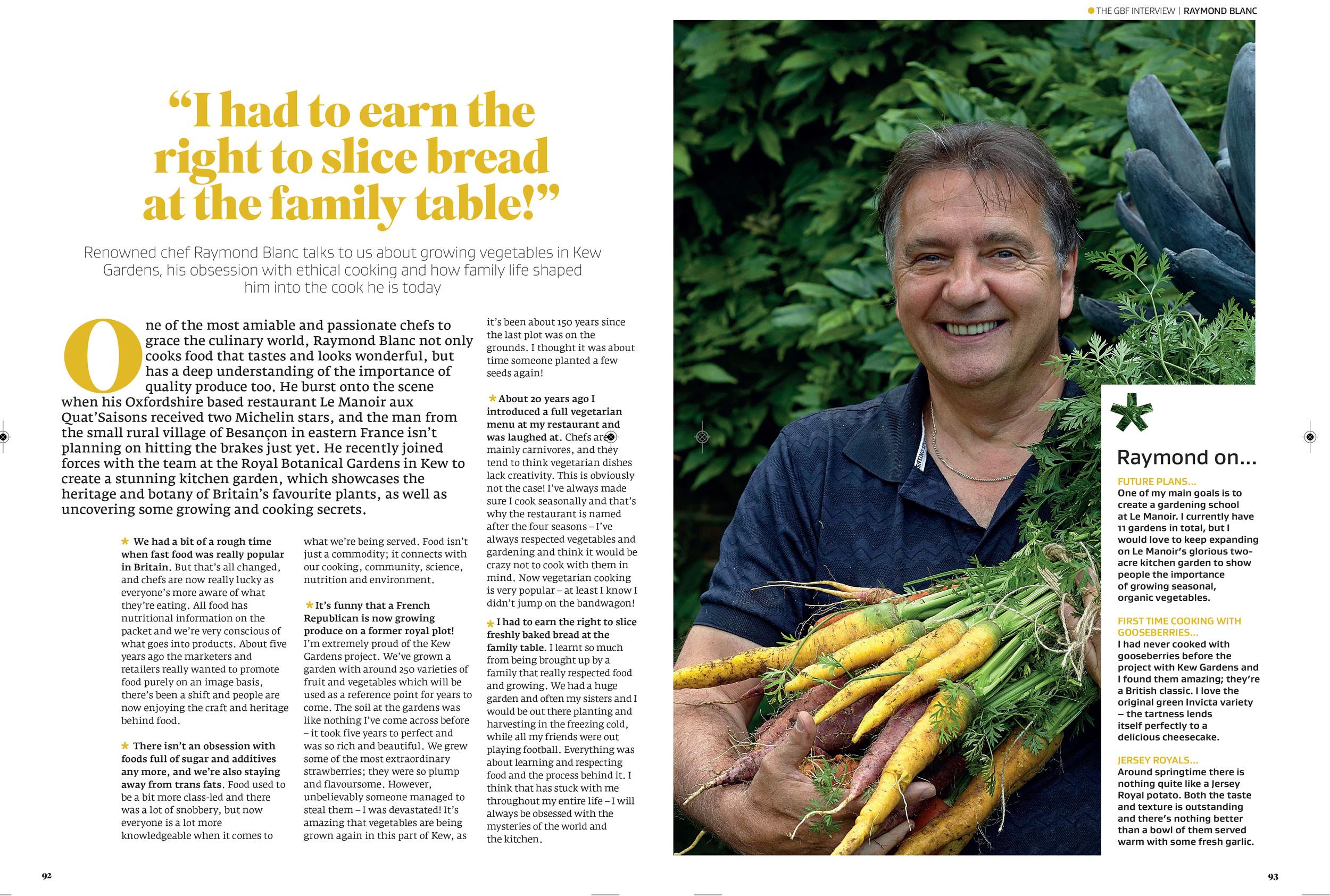 Interview with Raymond Blanc in Great British Food