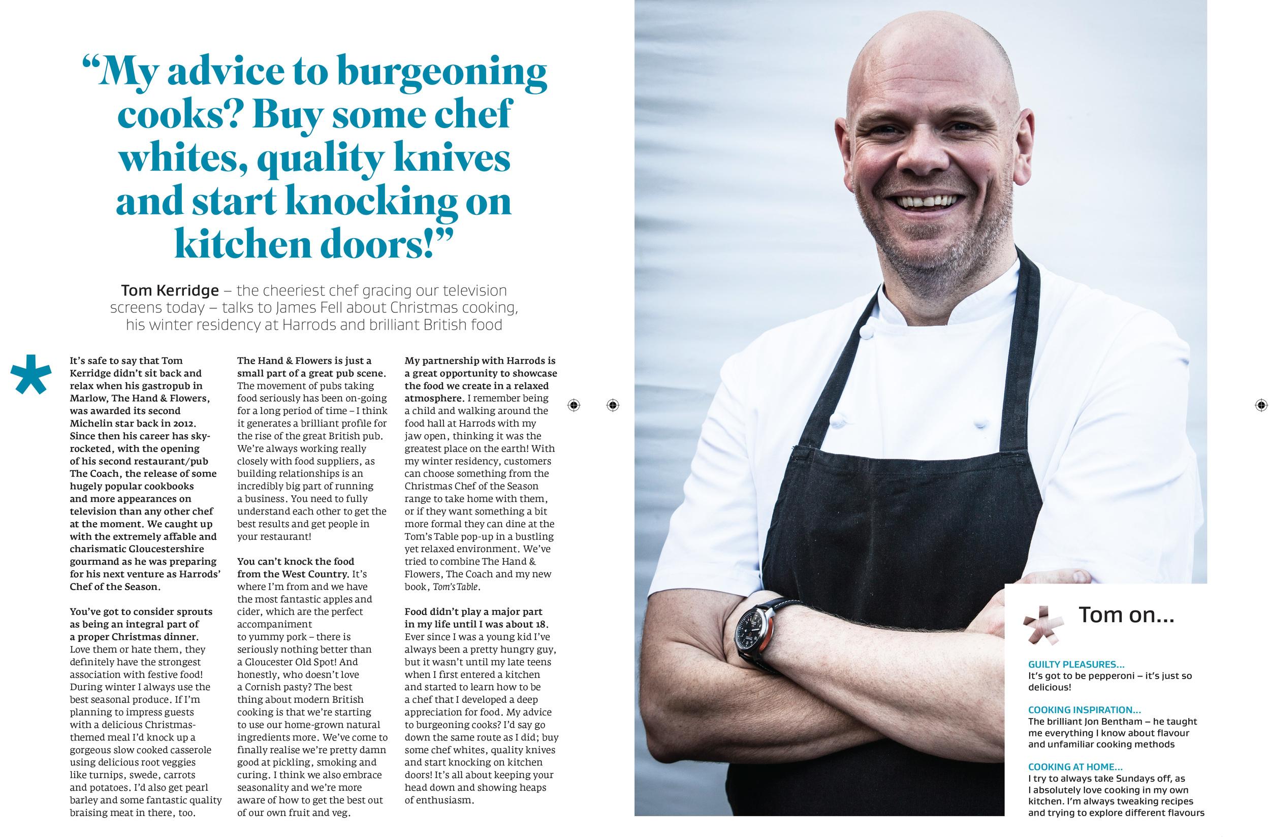 Interview with Tom Kerridge in Great British Food