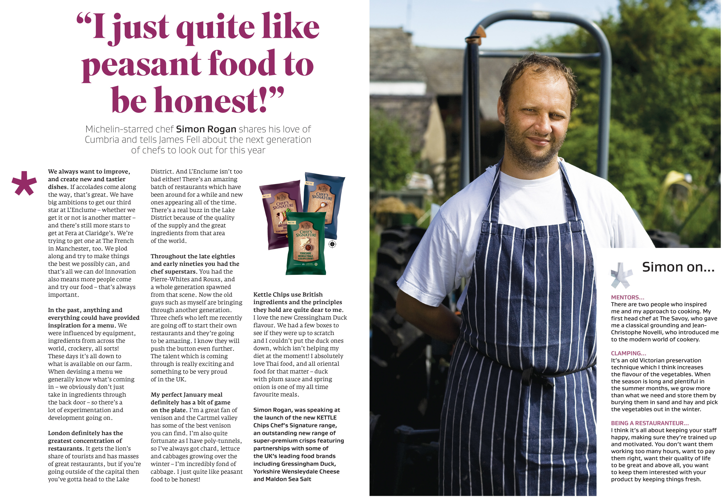 Interview with Simon Rogan in Great British Food