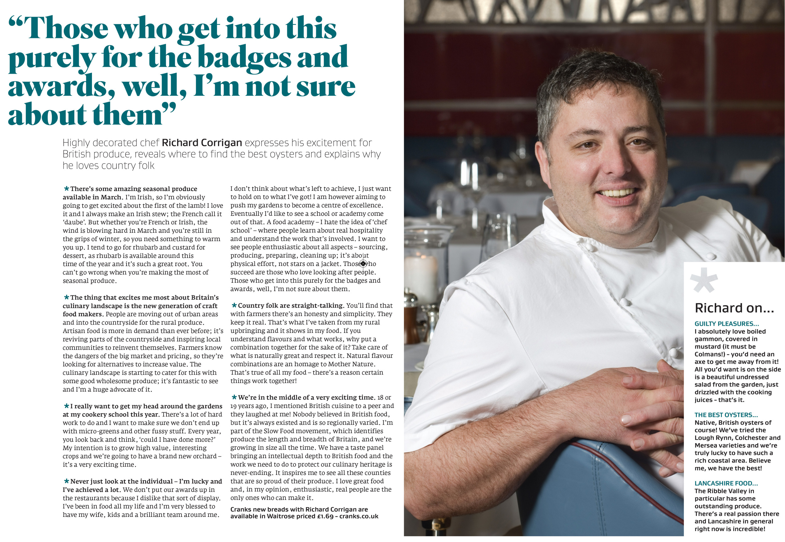 Interview with Richard Corrigan in Great British Food