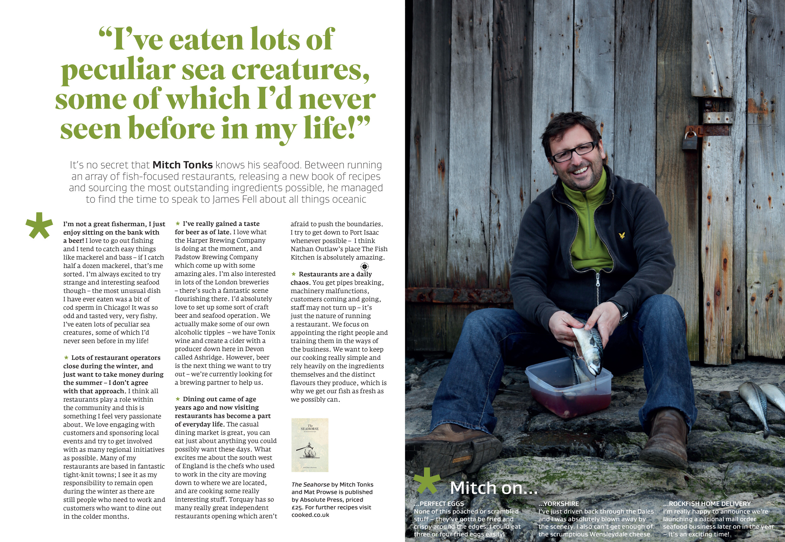 Interview with Mitch Tonks in Great British Food