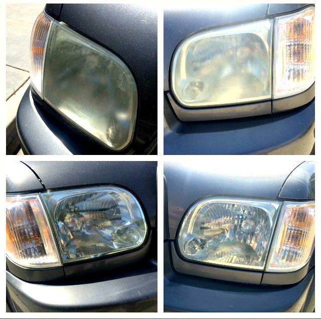 How to Restore Headlights - DIY - whatthegirlssay.com
