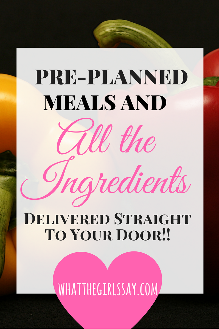 Pre-planned Meals and Ingredients Delivered to Your Door! Hello Fresh - whatthegirlssay.com - Ok, so I have tons of other posts to share, and they are all on a list right now, but I was so excited about this one, I couldn't wait!   I received a coupon in the mail (with my Shutterfly order) for $35 off of a HelloFresh subscription.    (Then found a $40 off coupon online-that's for another post.... BUT I HAVE A $40 OFF COUPON FOR YOU AT THE END OF THIS POST!!)