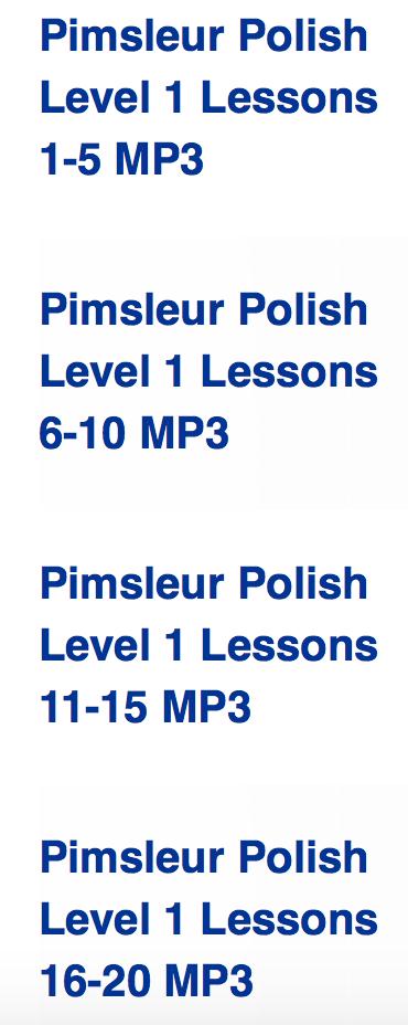 Pimsleur Review - Learn Polish - whatthegirlssay.com