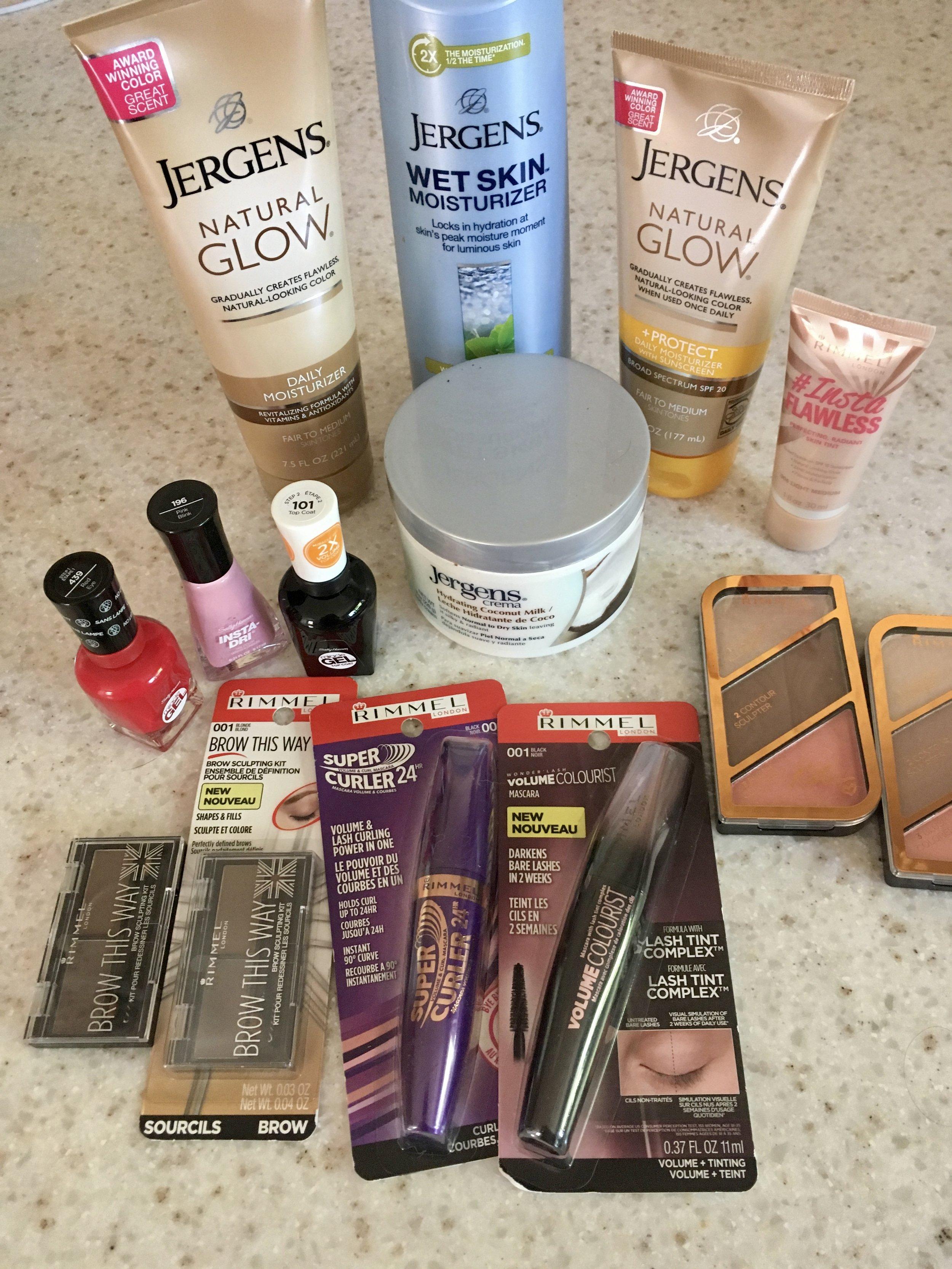 Summer Beauty Favs - whatthegirlssay.com Rimmel London, Sally Hansen, Jergen's