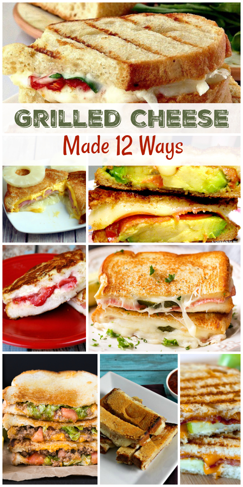 Best Grilled Cheese Recipes- Ahh, Grilled Cheese Sandwiches!  I personally, am always looking for the best Grilled Cheese Sandwiches at restaurants, or finding new Grilled Cheese Recipes or Grilled Cheese Sandwich ideas, to make the best ones. I LOVE Grilled Cheese!! So much so, that I've rounded up some awesome and unique ways to up your Grilled Cheese game. Whether you're making it for breakfast, lunch, or dinner, (there's even a dessert one in here) you're sure to find a new awesome creation! Just click on the blue link below a picture for the recipe!