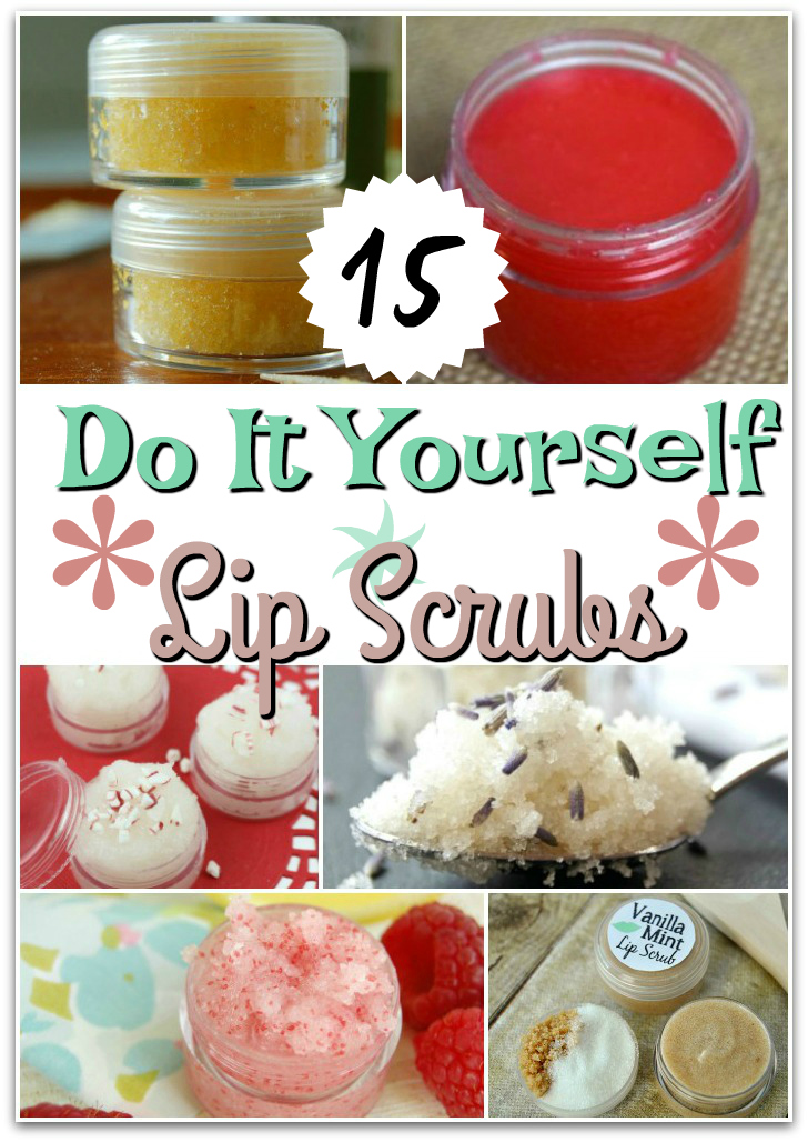 Homemade DIY Lip Scrub - Want to make your own lip scrub?  Have a hard time finding the best lip scrub, and just wanted an easy DIY Lip Scrub?  We've rounded up the best 15 Homemade Lip Scrubs for you to try.  Some great exfoliating lip scrubs, tasty lip scrubs, and lip scrubs with essential oils.  Check it out.