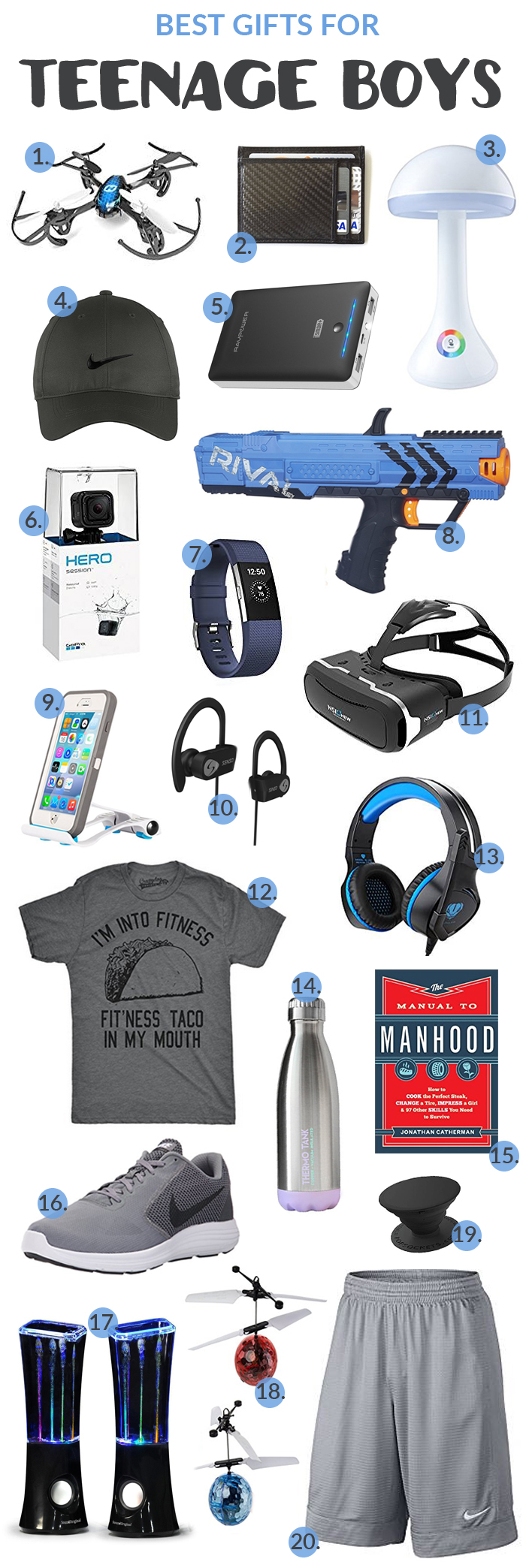 Best Gifts for Teenage Boys