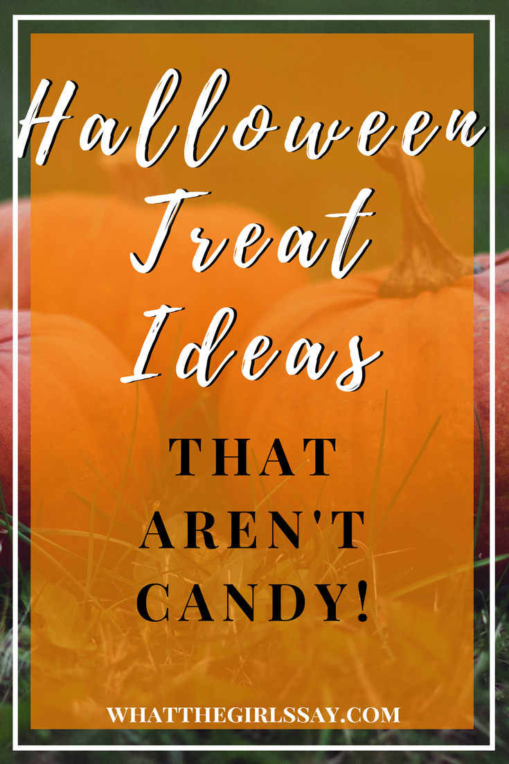 Halloween Treat Ideas that Aren't Candy - Non-Candy Halloween Treats to give out .  Are you looking for a Halloween treat to give out that has no sugar, is not chocolate, and is not candy?  Check out these ideas to give out this Halloween.