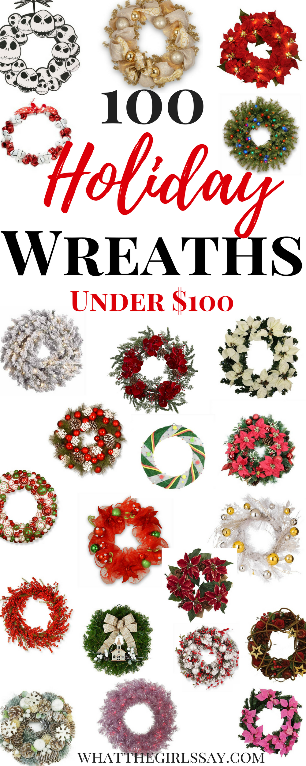 Holiday Wreath Ideas / Christmas Wreath Ideas - Looking for some great Holiday Wreaths for the Front Door? Or just want to do a Christmas Wreath DIY? Here are some ideas to get your creativity flowing. Christmas Decor Ideas - Holiday Decor Ideas. It's time to decorate for Christmas, these Front Door Wreaths are great ideas to find inspiration to make your own Christmas or Holiday Wreath yourself!
