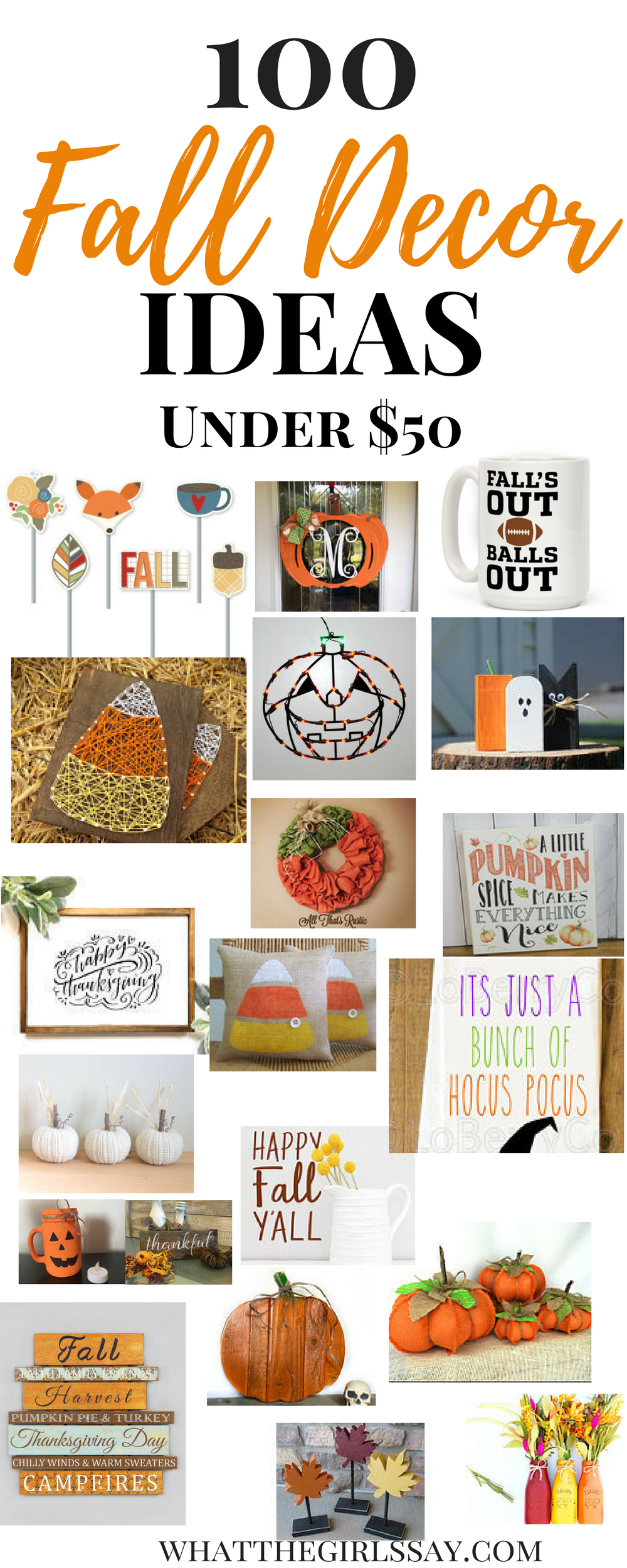 Fall Decor Ideas - Ready to decorate your home for Fall? Here are 100 of our Favorite Fall Decoration Ideas for the Home! From Pumpkin decorations to beautiful Fall Signs, these Autumn Decorations are sure to be a huge hit!