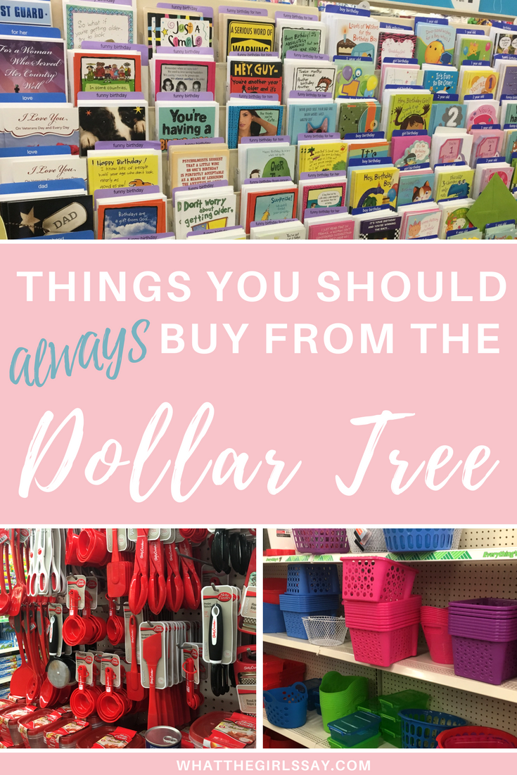 Things you should always buy from the dollar store.  Looking for how to save money on parties? How to save money on household goods, or home decor?  Here are some great things to save you money when you buy them from the Dollar Tree.