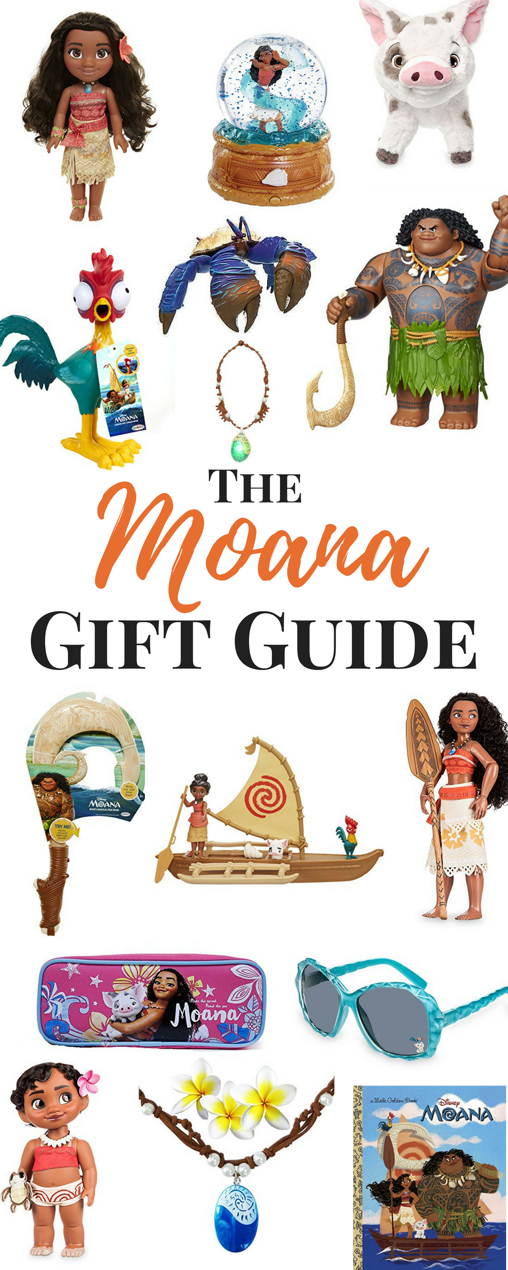 Moana Holiday Gift Guide - Whether you're looking for Moana birthday party ideas, a Moana costume, or searching for Moana gifts...or Maui Birthday of course...Heres a great list of Gift Ideas for children.  Disney Gifts, Moana, is sure to be the favorite this year.  Here are some best toy gift ideas from the movie.