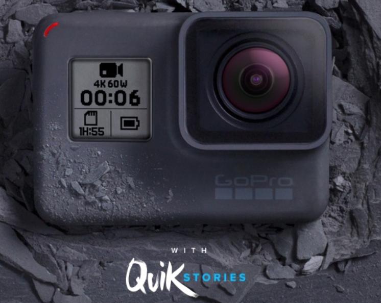 GoPro Hero 6 with QuikStories