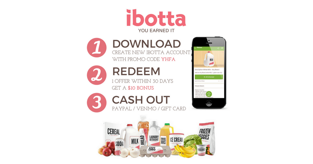 Ibotta Free money when using code... Free $10 Save money on groceries