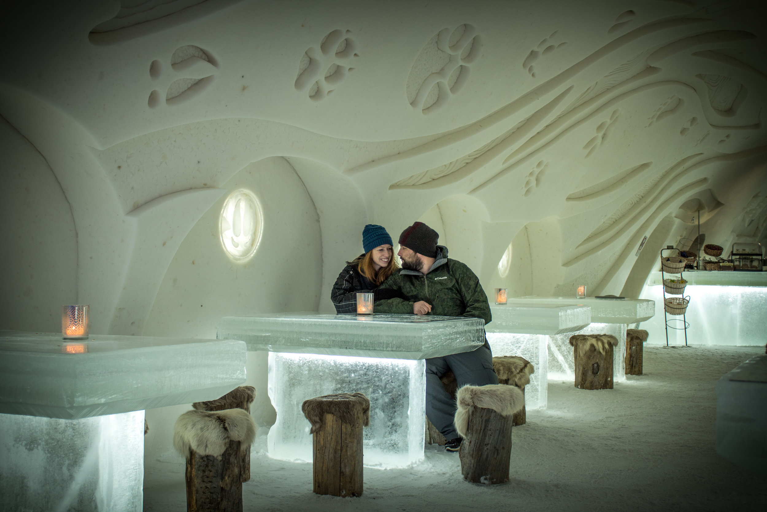 Snow Restaurant - Eat in an ice restaurant in Kemi Finland, Lapland