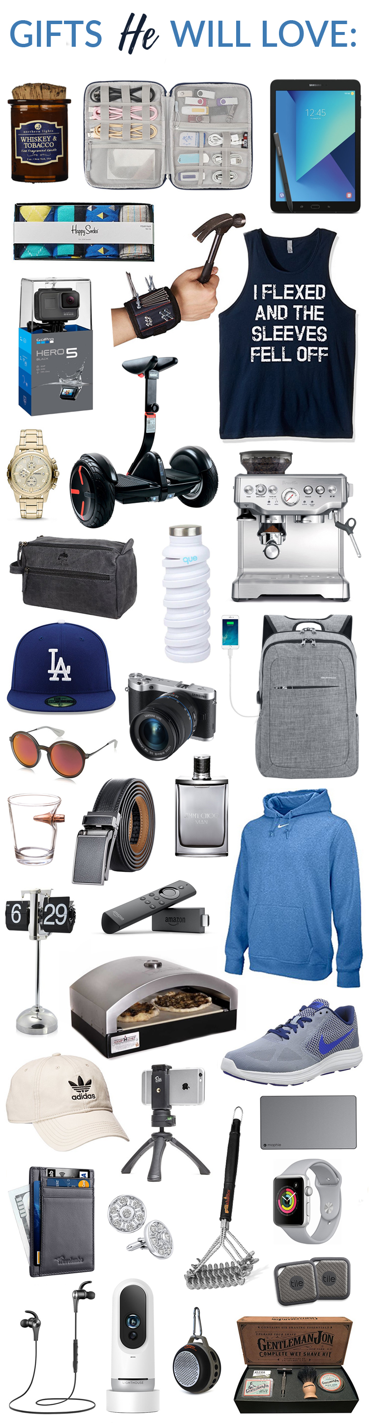 Gift Ideas for Him - Gifts for Father's Day - gift idea for boyfriend - gift guide for men - Need ideas on what to get your boyfriend, best friend, brother, uncle, dad, etc. for their birthday, Father's Day, Christmas, anniversary or any other holiday?  Check these out!