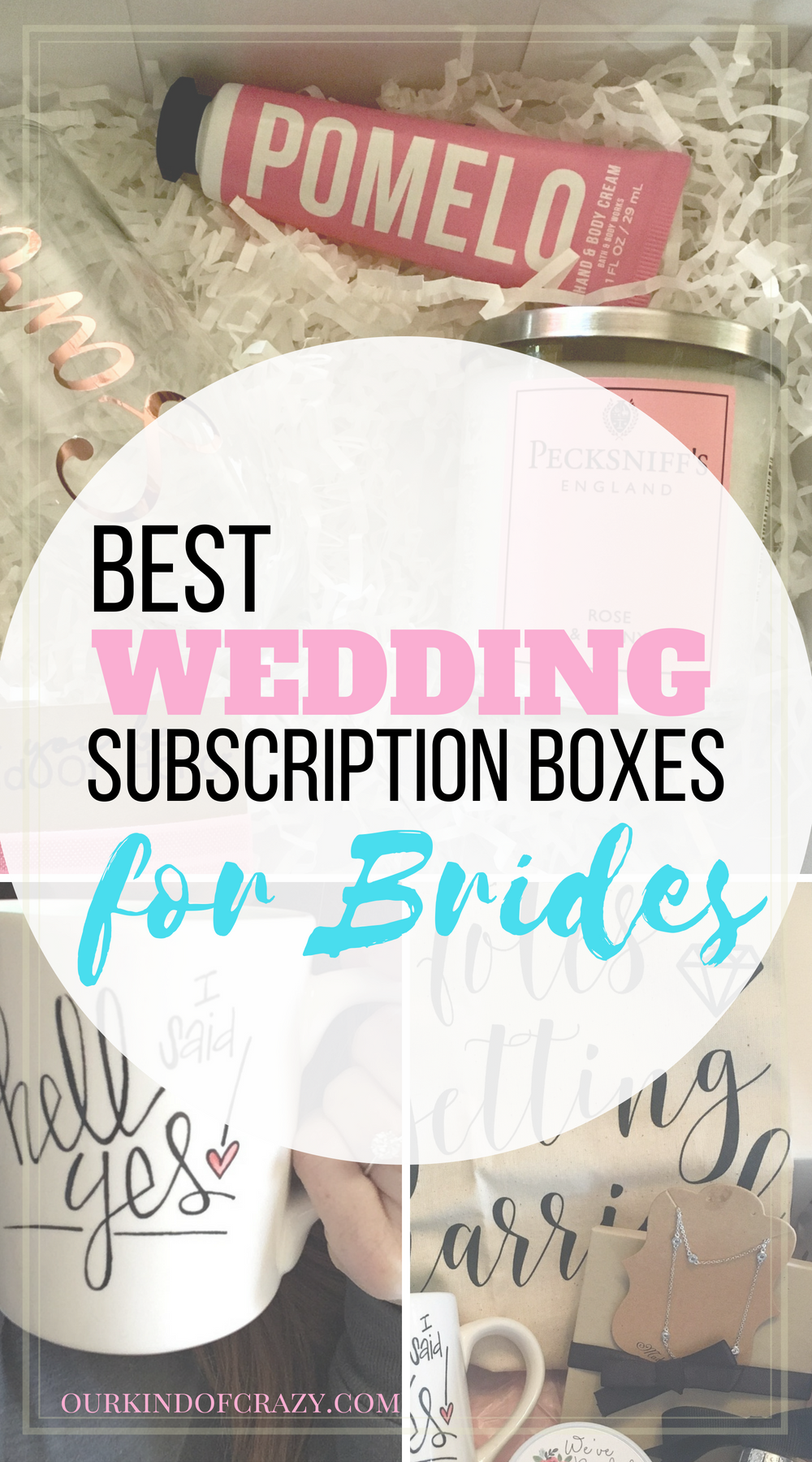 Bridal Subscription Boxes. Here are some of the best bridal subscription box reviews for the new bride to be. #brideboxes #weddingboxes
