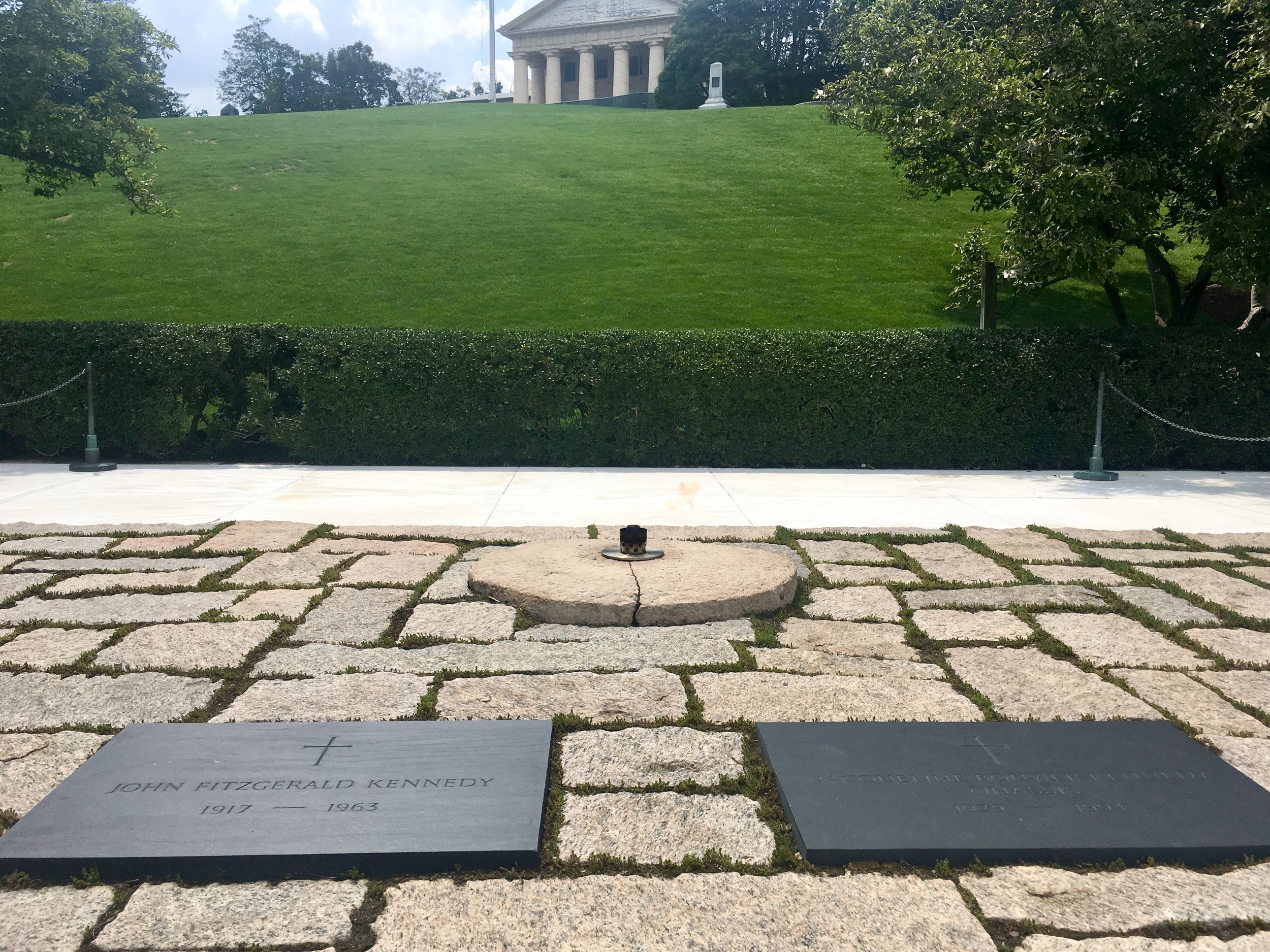 John F. Kennedy Grave Site and Eternal Flame- Arlington National Cemetery