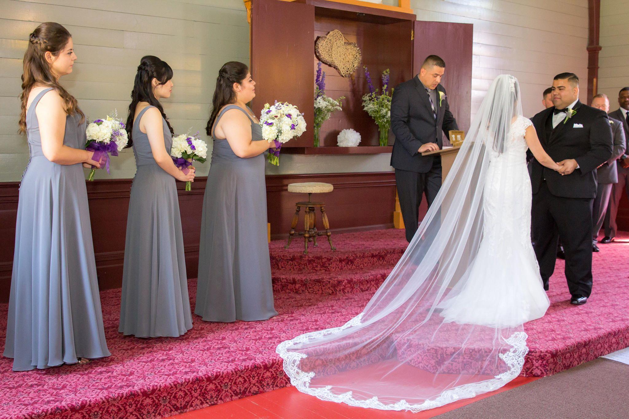 White Ivory Lace Edge Cathedral Length Wedding Bridal Veil