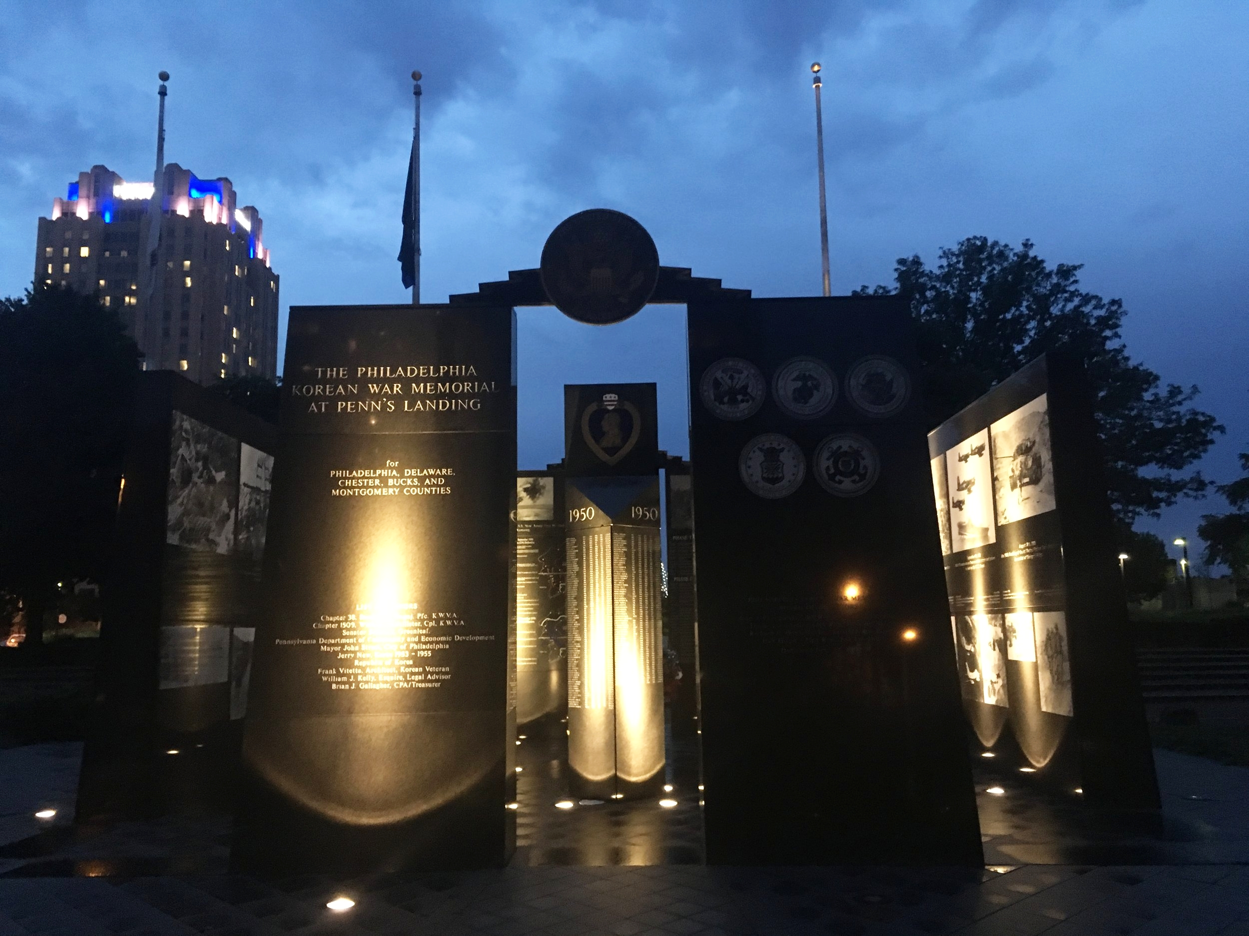 war memorials at Penn's Landing Philadelphia