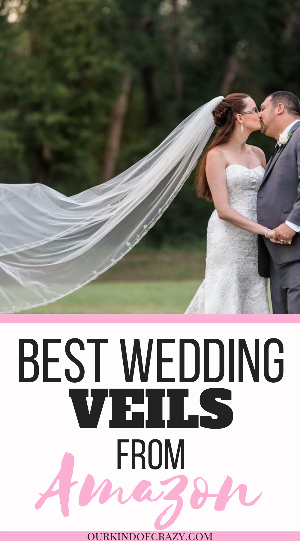 Awesome and Affordable Wedding Veils from Amazon. Long Wedding Veils, Short Wedding Veils, two tier veils or one, here are some great finds!