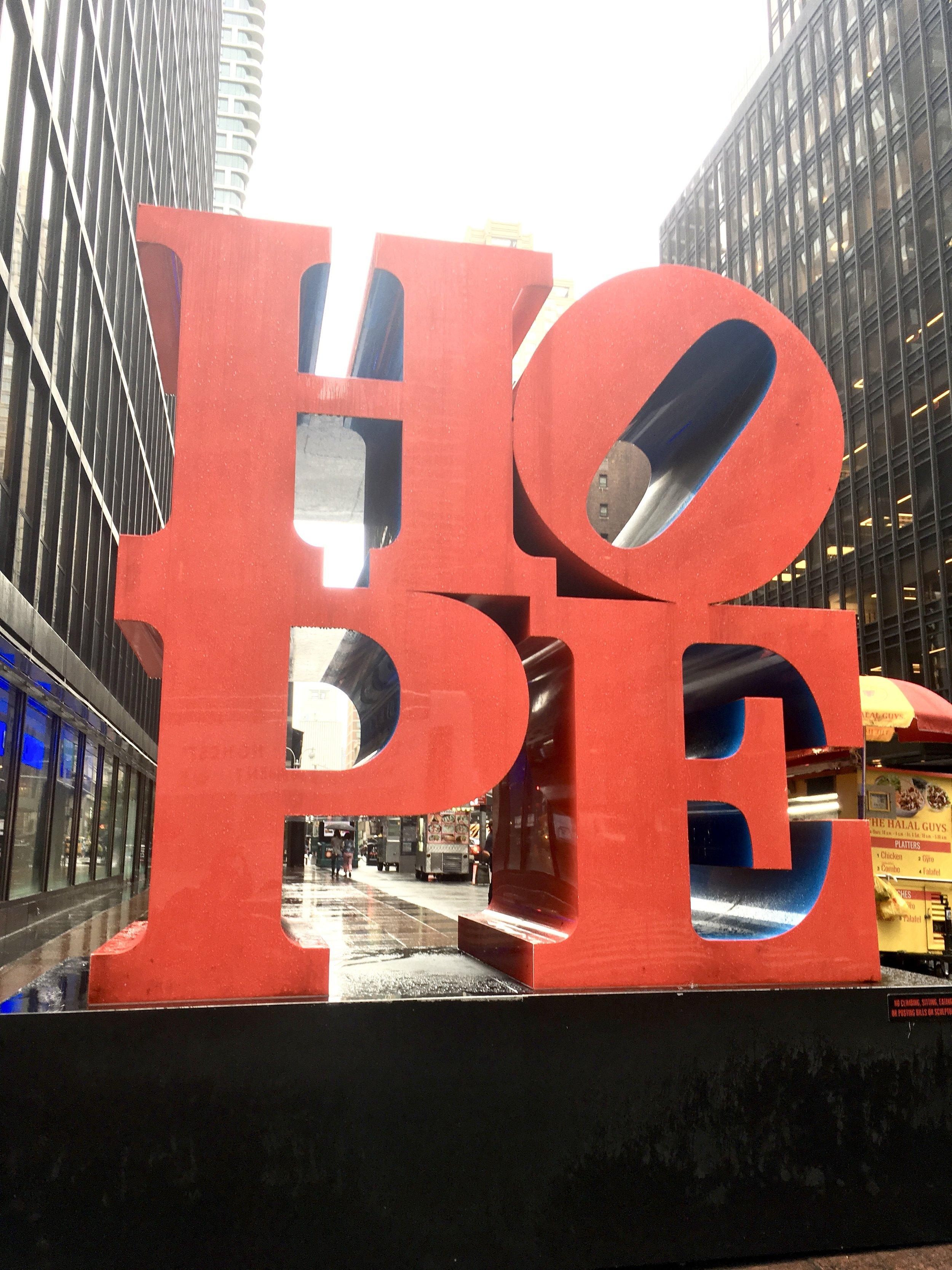 Hope sculpture New York City