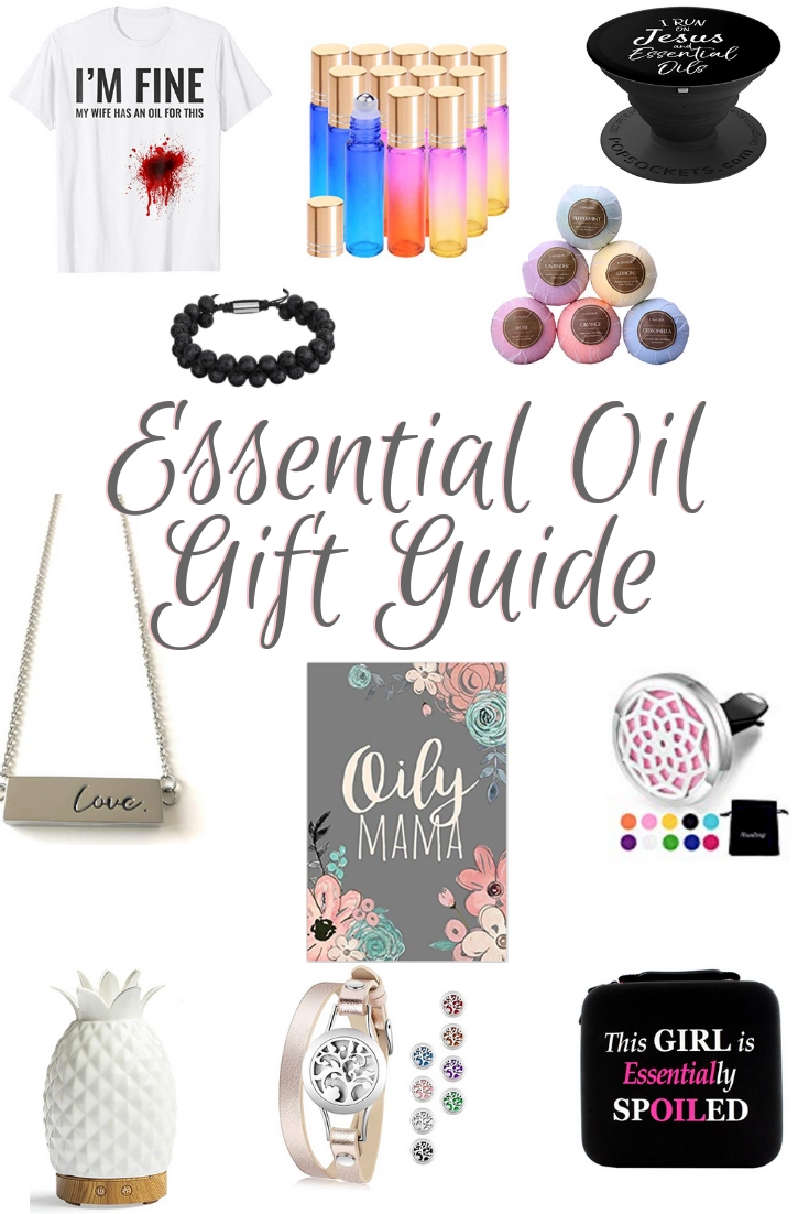 Essential Oils Gift Ideas.  Have an Essential Oil Mama on your shopping list? Here are some great ides of unique Essential Oil Gifts to get her.  There are even some great gifts for men on here too!!