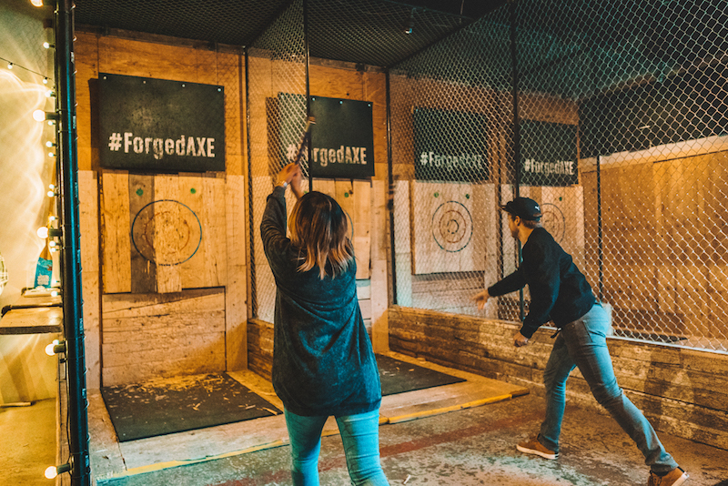 Axe Throwing at Forged Whistler Canada