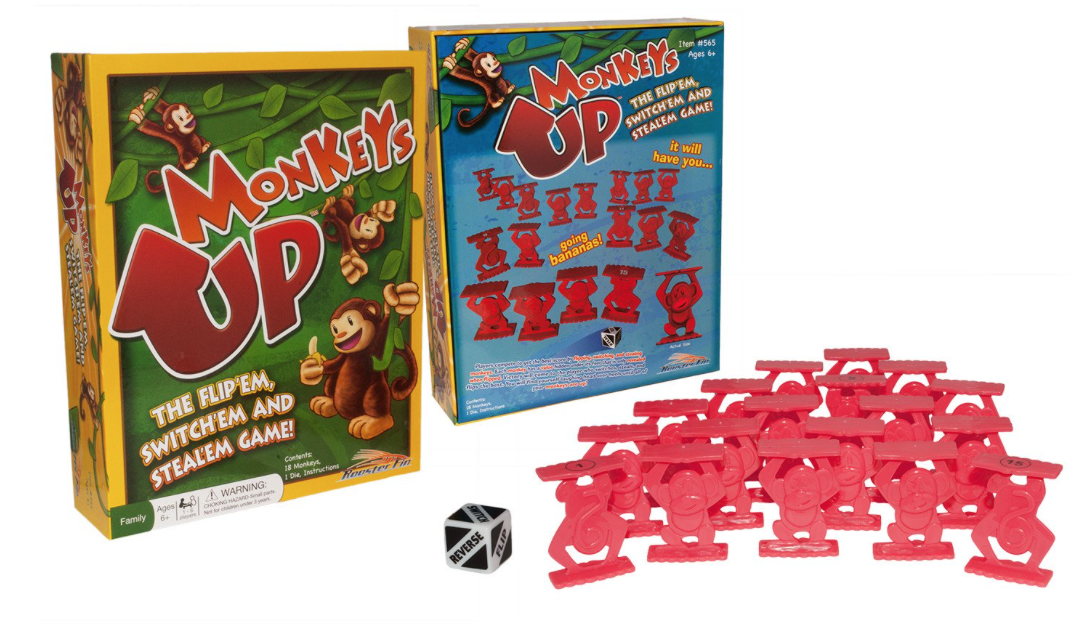 RoosterFin Games - Games are always a good idea for a kid's present. Not only are they fun and entertaining, but they can be educational too…just like this Monkeys Up game. Your child will work on their math skills with this one. Looking for a family game night? You're going to want to check out Ninja Squirrels or Rooster Race. We are loving RoosterFin's Best Game Bundle, which includes all 3 games!