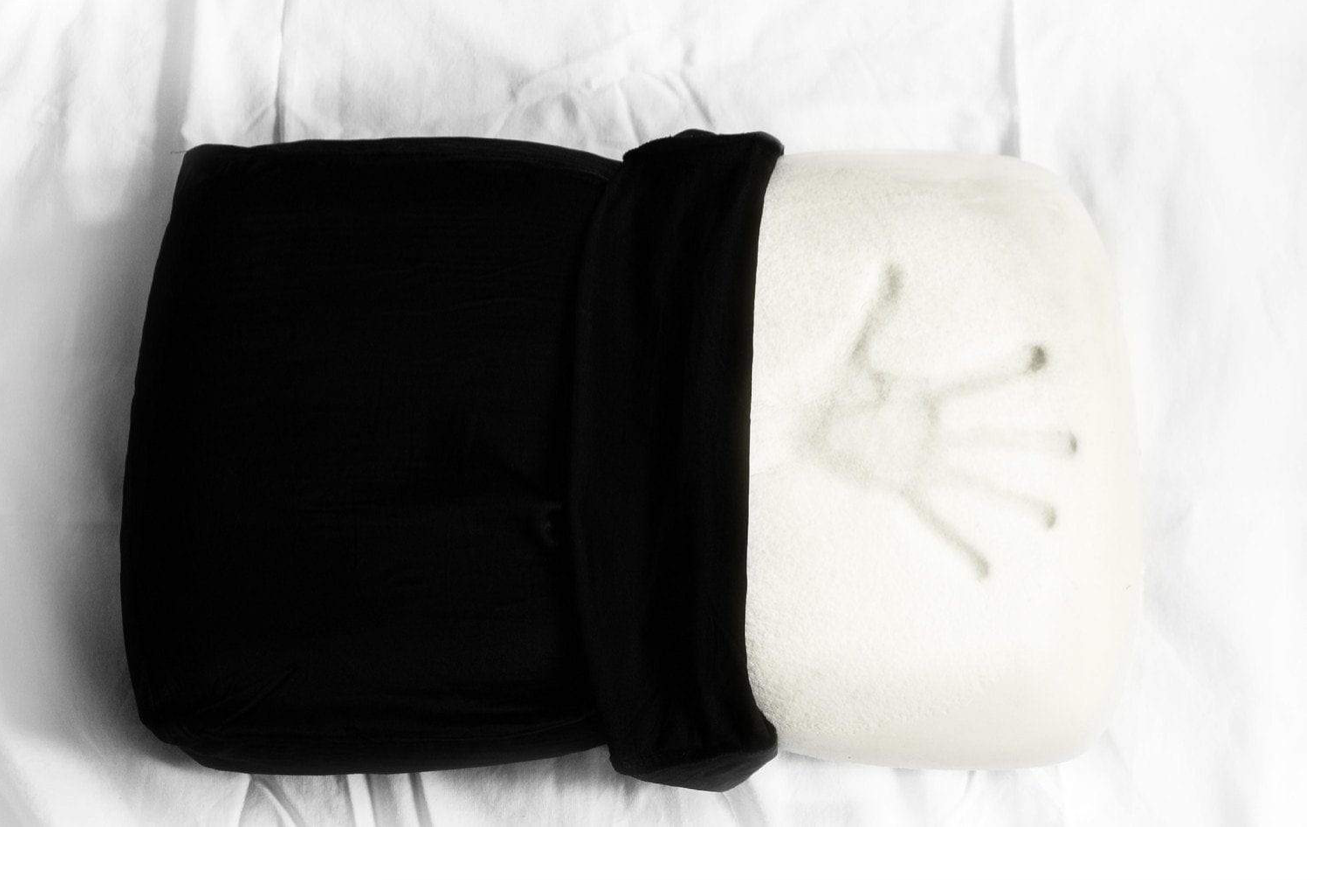 """NIGHT Pillow - This NIGHT Pillow is perfect for any woman. It is a Hypoallergenic memory foam pillow, that contours to your head to give you the most comfort. But it's not that tough memory foam that is too hard to sleep on. This one is light and airy to give you a cool nights sleep. And you can sleep in any position, and it will form to you whether you sleep on your back, stomach, or side. And thats not even the best part! This pillow gives you a """"youth-boosting sleep"""" by giving you both hair and skin benefits. The pillow case is made of 95% Mulberry Silk, which helps fight bedhead, and won't be harsh on your hair by stripping the oils, and helps lessen breakage. Then, the black silk helps negate the light, and acts as a built-in sleep mask. It's also great for your skin, because it """"protects against environmental allergens, including dust mites, mold, and fungus, from settling on your pillow and clogging your pores."""" A comfortable pillow, great for your hair and skin, and works as a sleep mask too?! Grab this one for all your girlfriends, or your hard to shop for mother-in-law. She'll thank you!"""